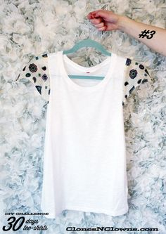 DIY tee-shirt scarf sleeves