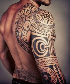 Polynesian Sleeve Tattoo Design