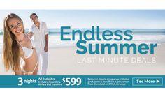 Endless Summer - Last Minute Deals - https://traveloni.com/vacation-deals/endless-summer-last-minute-deals/ #vacation #lastminutedeal #mexico #caribbean #hawaii