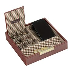 Square box - wellcome home box / hnedá / káro