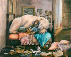 Lori Preusch Polar Bear and friend