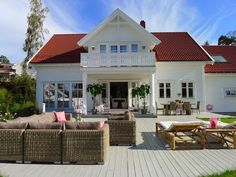 You searched for label/Fasade - Villa Von Krogh Nordic Home, Scandinavian Home, Home Focus, Garden Villa, Swedish House, House Goals, Exterior Doors, My Dream Home, Beautiful Homes