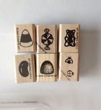 STAMPIN UP ALL WRAPPED UP ACCESSORIES RETIRED STAMP SET LADYBUG CANDY BEAR
