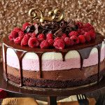 Chocolate+Raspberry+Mousse+Cake