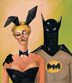 Batman and Bunny, 2005, by George Condo.   Photograph: © George Condo, courtesy of Luhring Augustine