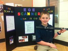 "James is a second grader who has EoE. Each year his school hosts an ""Invention Convention"" and students are asked to come up with a unique invention to share with the school community. He decided it would be great if an ""EoE scanner"" existed to make the process of tracking eosinophils easier and less invasive. ""The EoE Scanner would help because all they would need to do is hold it up to the t hroat and it is done. Doctors could check for eosinophils without anesthesia or endoscopies!"""