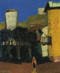 Willem Oepts (DUTCH, 1904-1988) A village square in summer