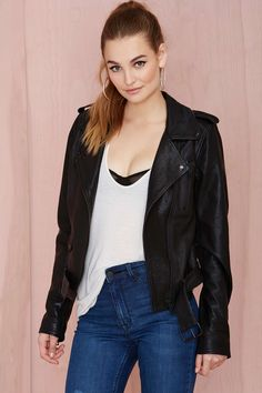Nasty Gal Leather - The Clash Moto Jacket