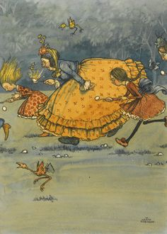 :: Sweet Illustrated Storytime :: Illustration by William Heath Robinson :: The Egg and Spoon Race