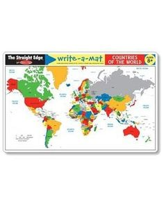 Amazon.com: Melissa & Doug Countries of the World Write-A-Mat: Toys & Games