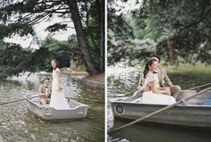Bride and Groom out on a boat ride at their Chalet Robinson Wedding in Brussels, Belgium photographed on film by Maitha Lunde