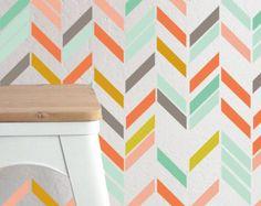 Multi Color Herringbone - Wall Decal Set