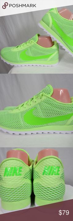 Nike Volt Neon Green Cortez Ultra Shoes 10 NEW Brand new hard to find  electric green