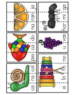 Word Work Activities, Toddler Learning Activities, Reading Activities, Teaching Reading, Spanish Teaching Resources, Spanish Activities, Spanish Language Learning, Spanish Lesson Plans, Dora