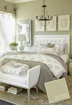 We think light grey is the perfect colour scheme for a bedroom. It's warm and stylish and perfect for accessorising with pops of colour!