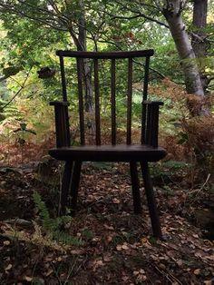 century primitive welsh stick back chair