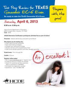 Teacher Certification, Harris County, Test Prep, Teacher Stuff, Certificate, Texas, Classroom, Education, Class Room