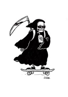 skate death skate death on Behance<br> Skate Tattoo, 4 Tattoo, Karma Tattoo, Tattoo Flash, Tattoo Sketches, Tattoo Drawings, Art Sketches, Skeleton Art, Skeleton Drawings