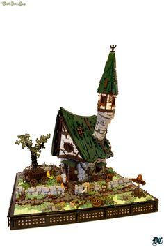 """Hexvale Cottage by Luke Watkins Hutchinson """"Derfel Cadarn"""" Lego Minecraft, Hama Beads Minecraft, Perler Beads, Lego Moc, Minecraft Medieval, Lego Tree House, Art Hama, Lego Sculptures, Lego Videos"""