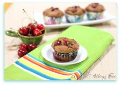 Gluten-free Chocolate Cherry Chip Muffins - just bought cherries! Making these!!