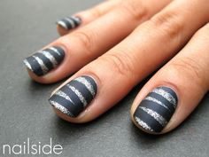 Mummy Time Nails  For a ghoulish pre-Halloween mani, try this technique from Jane of the Nailside blog