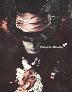 ImageFind images and videos about tea, johnny depp and alice in wonderland on We Heart It - the app to get lost in what you love. Alice In Wonderland Aesthetic, Alice And Wonderland Quotes, Tim Burton Johnny Depp, Johny Depp, Wonderland Tattoo, Alice Madness, Arte Disney, Arte Horror, Disney Quotes