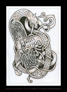 Celtic beast tattoo design by Tattoo-Design.deviantart.com on @deviantART