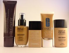 My Favorite Foundations for Summer featuring Laura Mercier, Make Up For Ever, Chanel, Clinique, Rimmel, and Revlon!