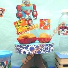 rescuebots decoracion de cupcakes