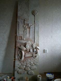 Plaster Sculpture, Plaster Art, Plaster Walls, Wall Sculptures, Sculpture Art, Mural Wall Art, Abstract Wall Art, Earth Bag Homes, Door Murals