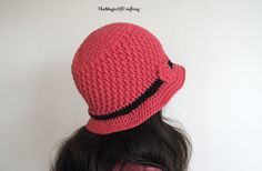 Textured Brimmed Hat. Free crochet pattern.