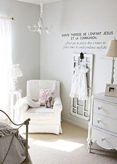 Gray walls, beige carpet