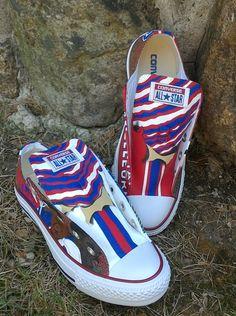 Buffalo Bills Custom hand painted/ airbrushed kicks