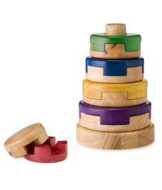 """Listening Stacker"" for older children.  :)    PUZZLE STACKER | Wood, Toy, Kids, P'Kolino | UncommonGoods"