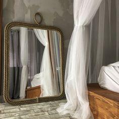 Купить Зеркало ROPE MIRROR. 70/90 - бежевый, канат, зеркало, зеркало канат, зеркало в канате