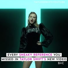 "Watch this video to discover all of the Easter eggs and hidden references in Tay.,Funny, Funny Categories Fuunyy Watch this video to discover all of the Easter eggs and hidden references in Taylor Swift& ""Look What You Made Me Do"" mus. Taylor Swift Music Videos, Taylor Swift Funny, Long Live Taylor Swift, Taylor Swift Album, Taylor Swift Facts, Taylor Swift Quotes, Taylor Swift Style, Taylor Swift Pictures, Taylor Alison Swift"