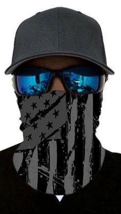 Neck Gaiter/Cloth Mask Face Cover Shield Dark Black and Grey Stars and Stripes USA Flag American Pride Black And White Stars, Black And Grey, Rave Mask, Headband Men, Fashion Mask, Diy Fashion, American Pride, American Flag, Dark Grey