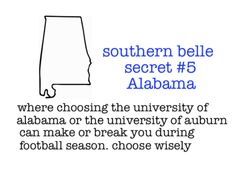 By choose wisely we really mean choose Auburn! Why do people always get the name wrong?
