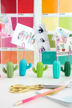 DIY Easy Cactus Photo Holders