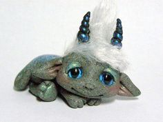 """OOAK Stone Dragon Goblin Trollfling Troll doll """"Ayco"""" by Amber Matthies"""