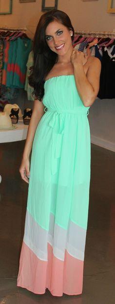 Blue super cute maxi dress.
