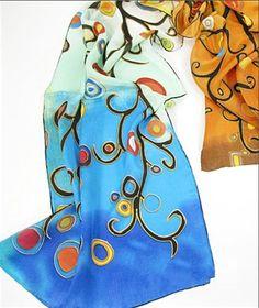Prettystern P170 - 160cm Dipinti su seta di Gustav Klimt Stoclet Frieze - L'albero della vita: Amazon.it: Abbigliamento