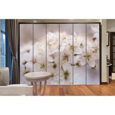 Αυτοκόλλητο ντουλάπας White blossom Room Divider, Decor, Furniture, Home, Home Decor, Room