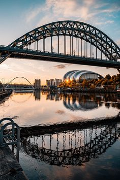 The Tyne Bridge At Sunrise Symmetry Photography, Newcastle England, R Dogs, Sydney Harbour Bridge, Best Cities, Beautiful Landscapes, Night Life, Places To Travel, Cool Pictures