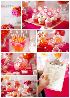 love the color combination of the different pinks mixed with orange
