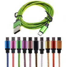 25cm/1M/2M/3M Micro USB Cable Charger Data Sync Nylon USB Cable For Android…
