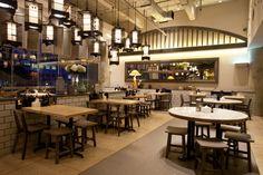 松發Bakut德餐廳用隱喻內飾班底英達Kapuk,雅加達 - 印尼»零售設計博客