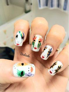 Nail arts by Bedizzle: Mardi gras check out www.MyNailPolishObsession.com for more nail art ideas.