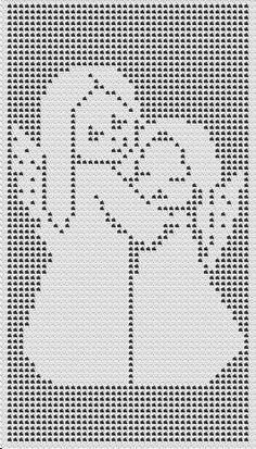 Risultati immagini per scenes croche filet Crochet Angel Pattern, Crochet Angels, Crochet Cross, Afghan Crochet Patterns, Crochet Home, Thread Crochet, Crochet Motif, Crochet Stitches, Knit Crochet