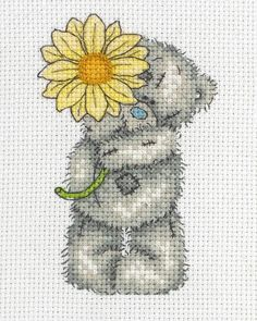 Sunflower Mini (Tatty Teddy) - Cross Stitch Kit by Anchor
